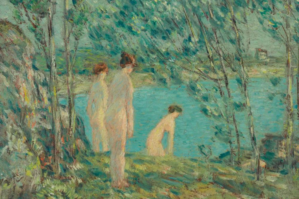 CHILDE HASSAM | The Bathers, 1903 | Oil on board | Public Domain | On Loan from The Owens Foundation | TL20.1