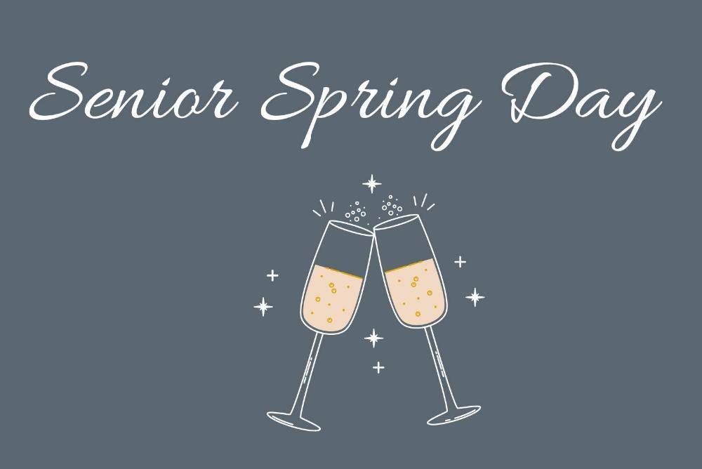 Senior Spring Day - Champagne Toast