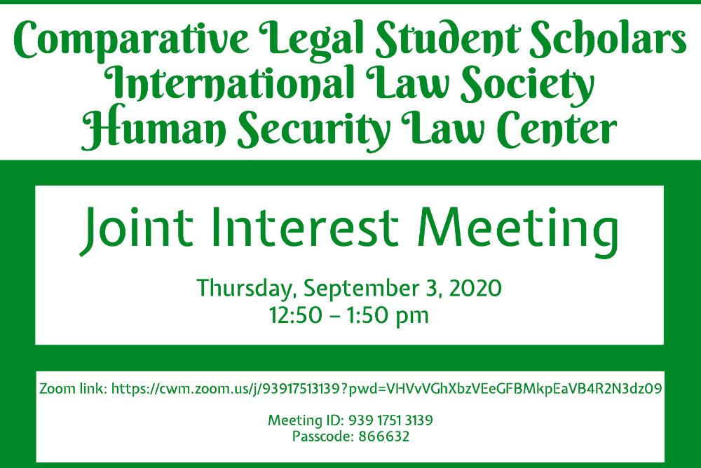 Joint interest meeting