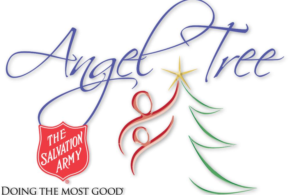 Salvation Army's Angel Tree logo and the words