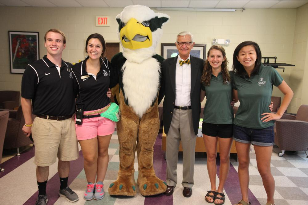 President Reveley with the Botetourt Complex Campus Living Head Staff (August 2015)