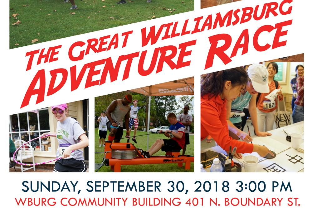 The Great Williamsburg Adventure Race Flyer