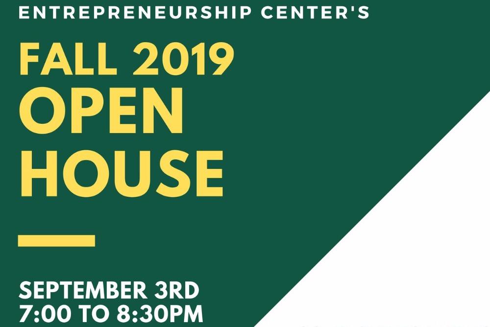 EC Open House Info, top half of flyer. Open House will be held at the EC (Miller 3041)!