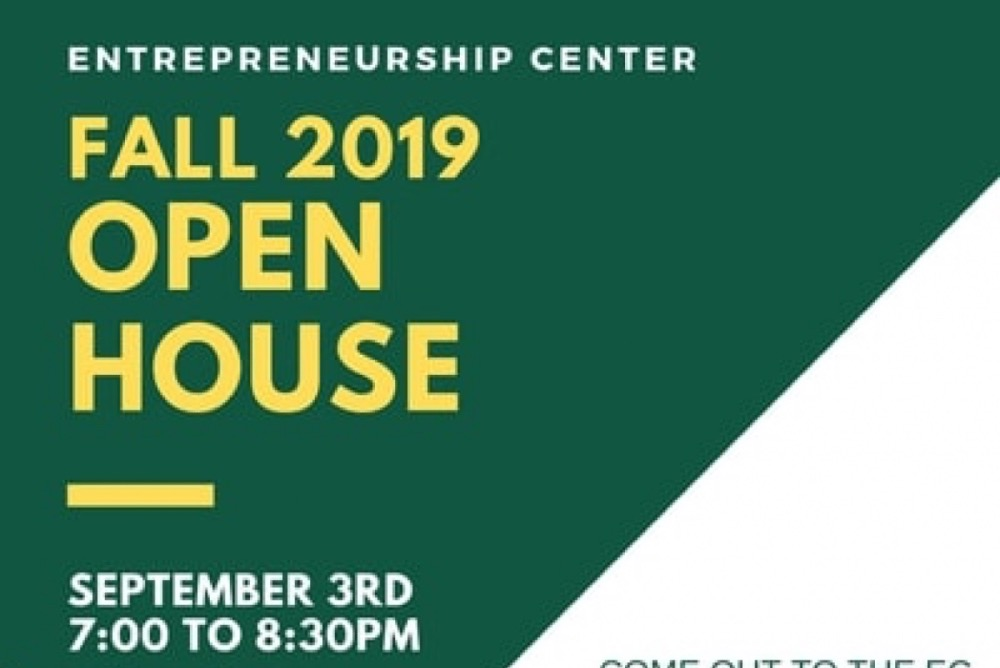 EC Open House Info, top half of flyer. Open House will be held at the EC (Miller 3041)!