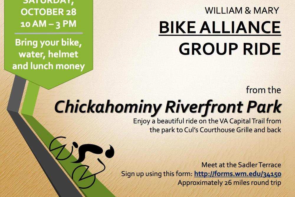 Bike Alliance Group Ride on the VA Capital Trail