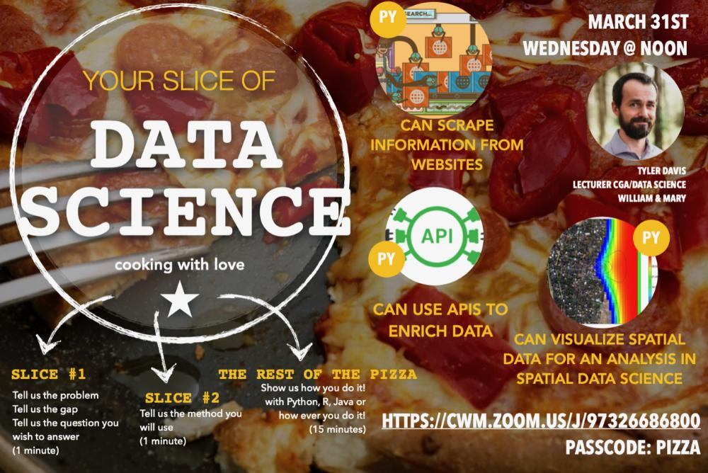 Slice of Data Science - Tyler Davis, Ph.D., William & Mary