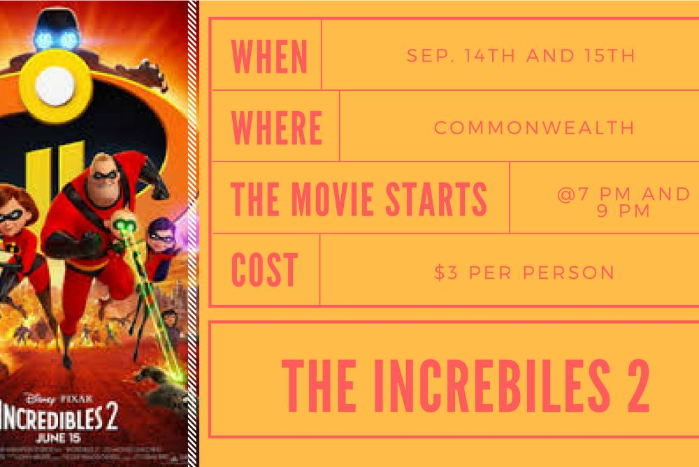 AMP / September Blockbuster Incredibles 2