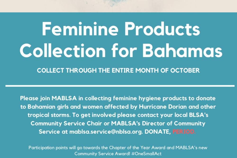 Feminine Products Collection for Bahamas