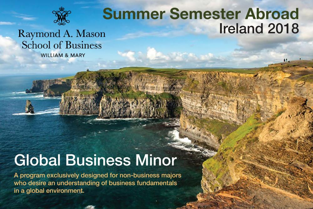 Global Business Minor Postcard