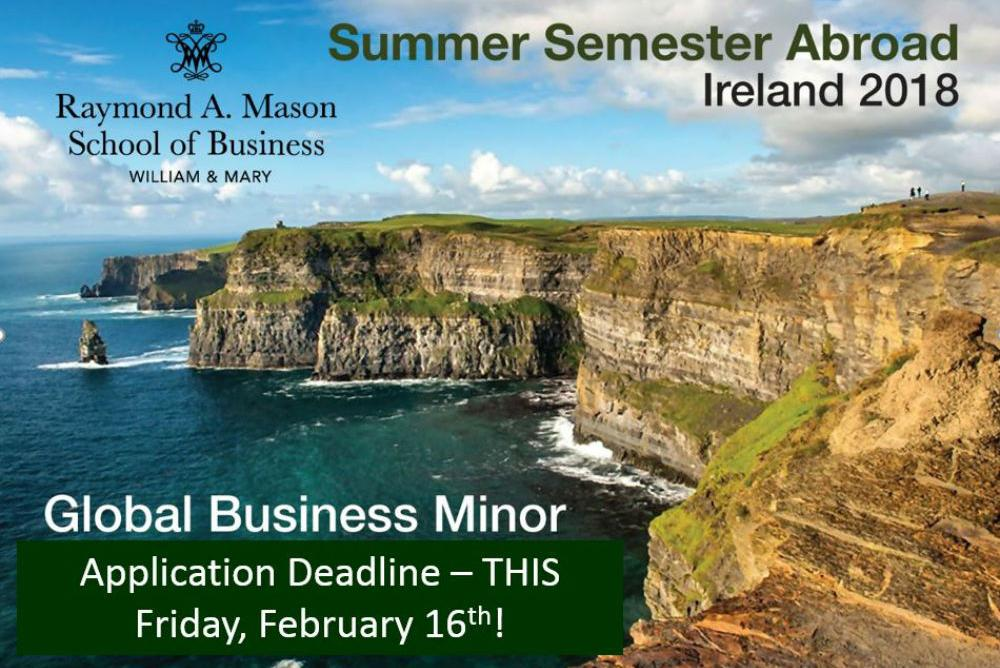 Global Business Minor in Ireland