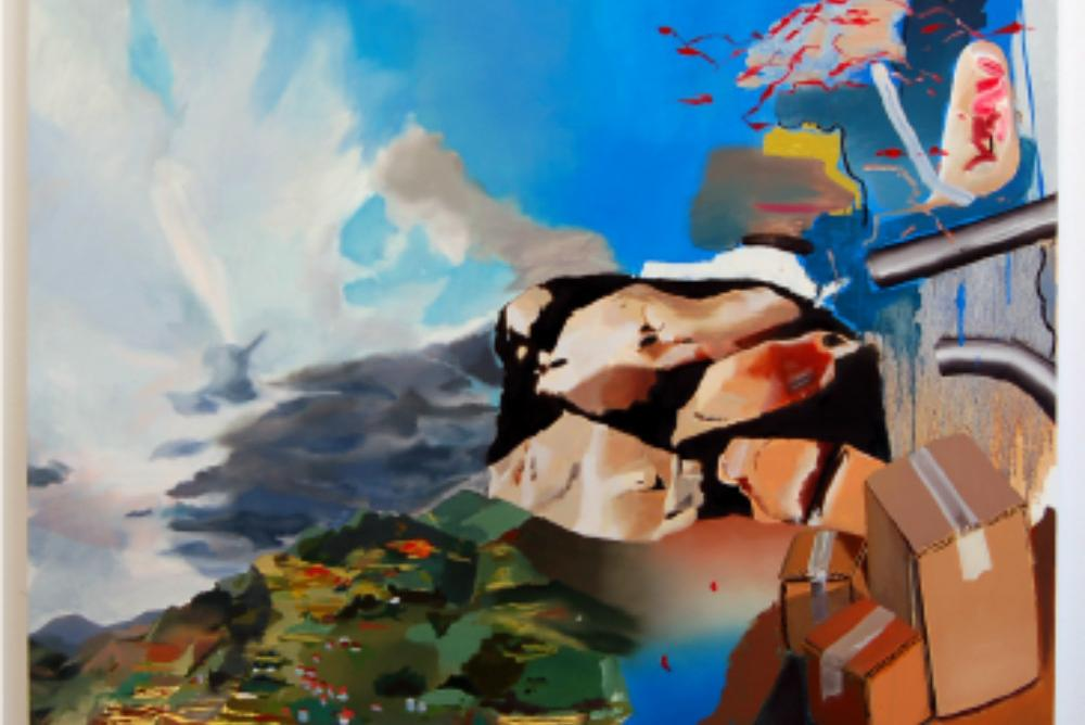 Roberto Jamora, Palimpsest 60x48 inches, oil on canvas, 20200818