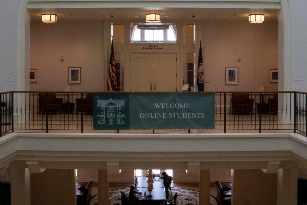 Online Student Banner in Miller Hall