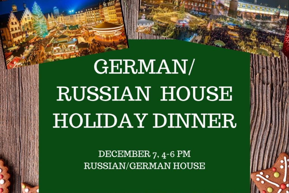 Russian/German House Holiday Dinner
