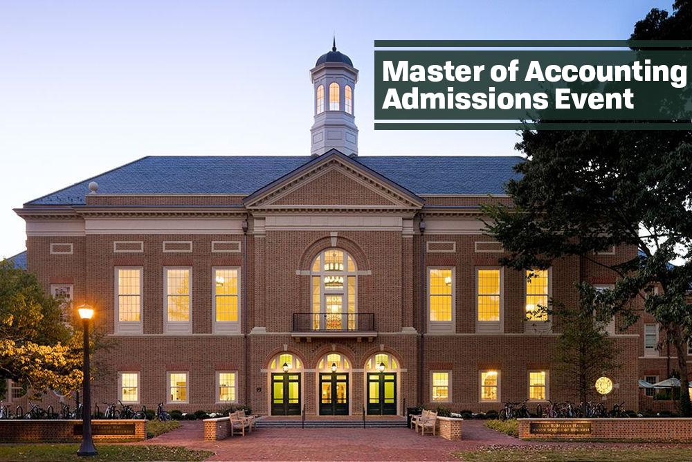 Miller Hall - Master of Accounting Admissions Event