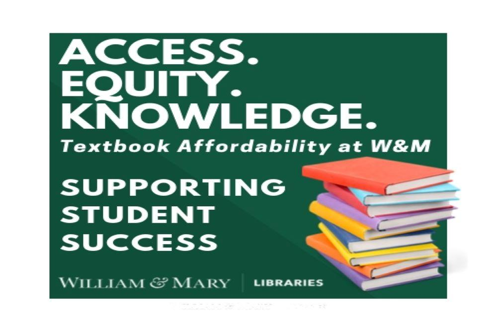 textbook affordability at W&M