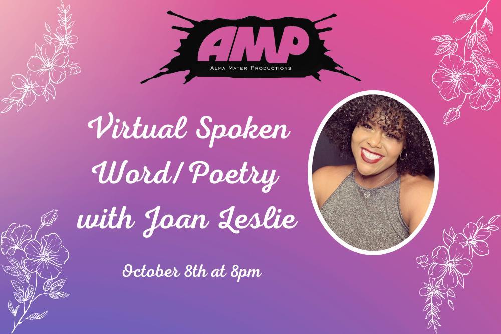 Flyer for Virtual Poet Joan Leslie
