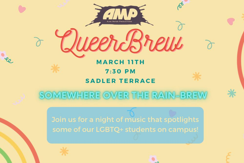 Poster for QueerBrew: Somewhere Over the Rain-Brew!