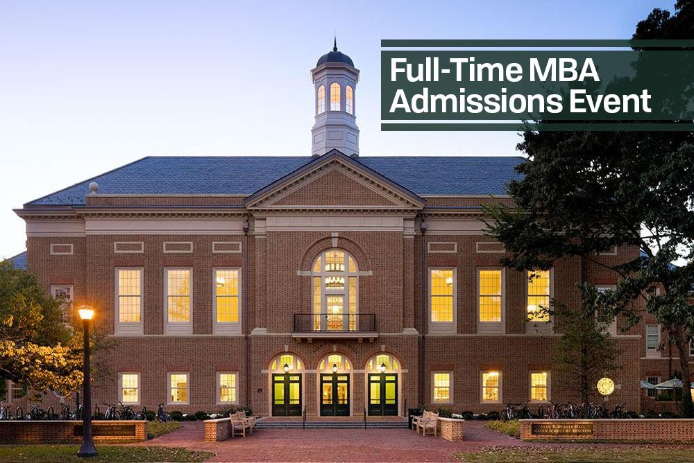 William & Mary School of Business - Full Time Admissions Event is written in Text