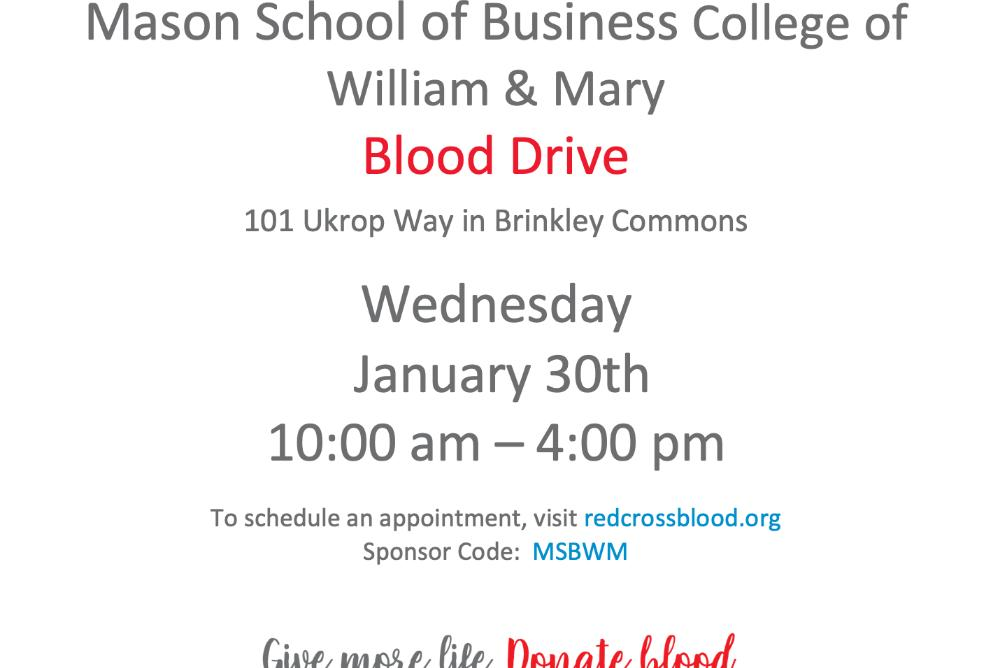 Blood Drive Flyer