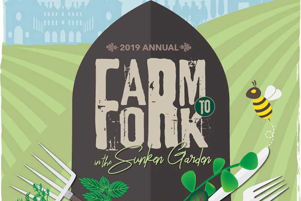 Annual Farm to Fork Dinner in the Sunken Garden