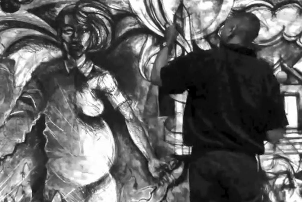 Image from the Steve Prince & Sergio Gomez Live Drawing Performance at Who Is My Neighbor in 2014