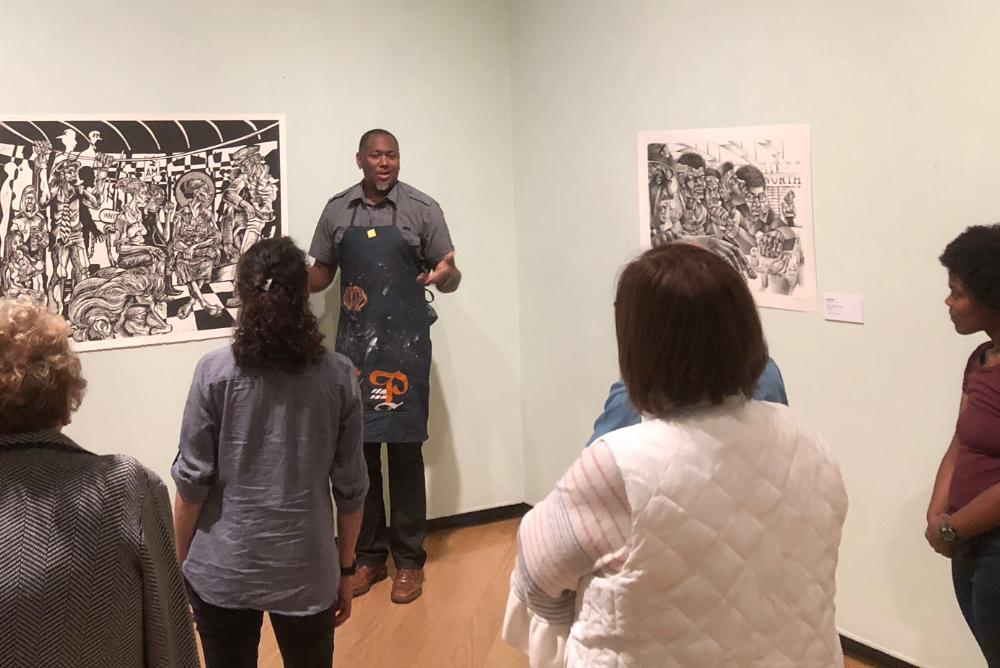 Image from November 2, 2018 Meet the Artist Brown Bag Lunch