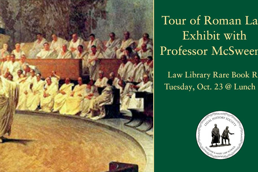 LHS Roman Law exhibit tour flyer