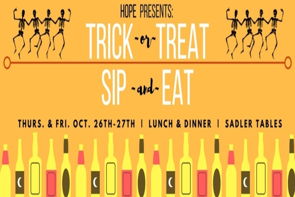 HOPE Presents: Trick or Treat Sip and Eat