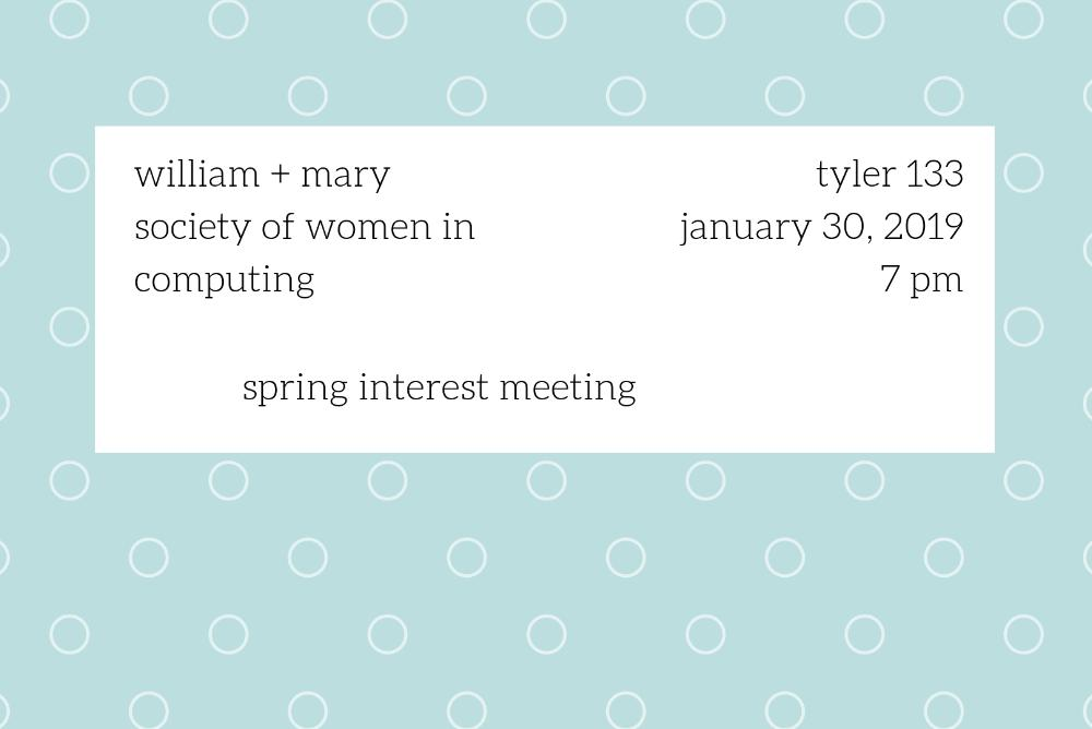 cover photo displaying time and date information about interest meeting.