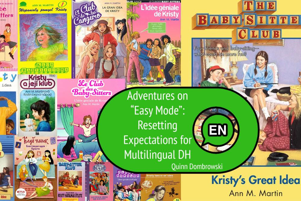 Adventures on Easy Mode, image of Baby Sitter's Club books  in multiple languages