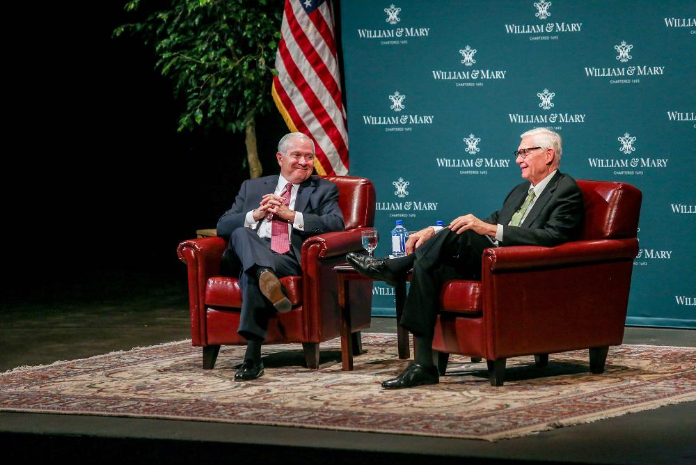 Chancellor Robert Gates and President Taylor Reveley