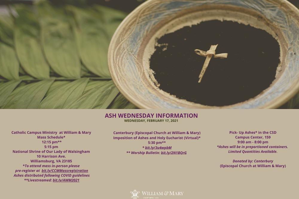 Ash Wednesday 2021 Information