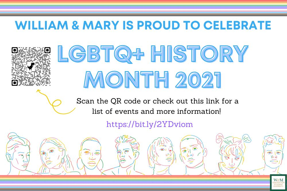 Multicolored flyer with people traced in different colors lining the bottom of the flyer