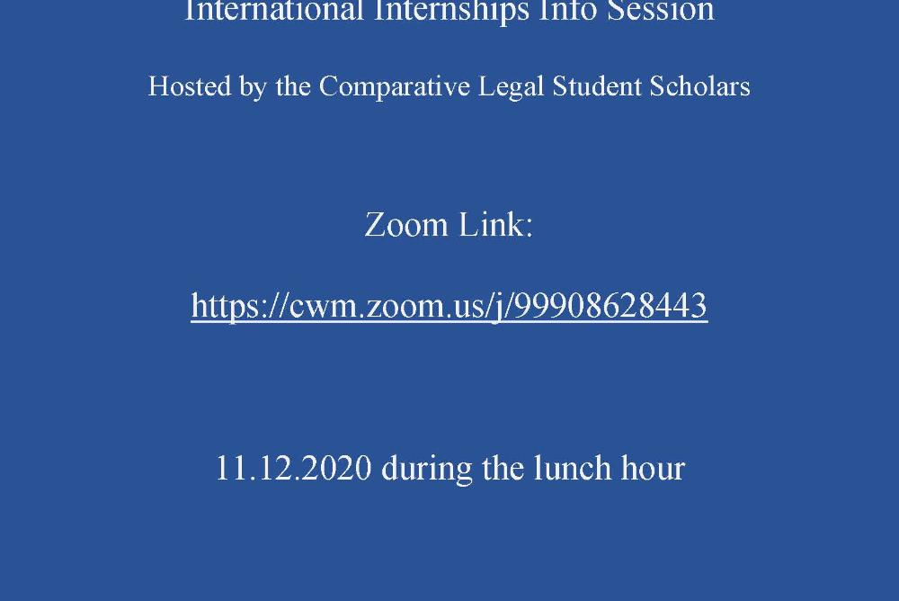 International Internships Info Session