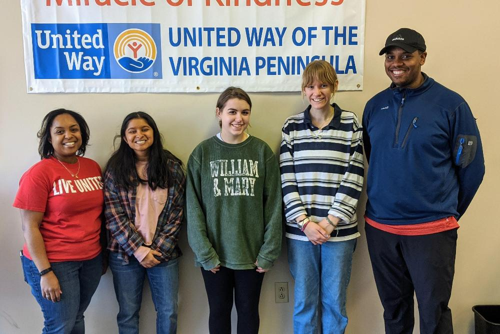 Student Supporting the United Way of Williamsburg