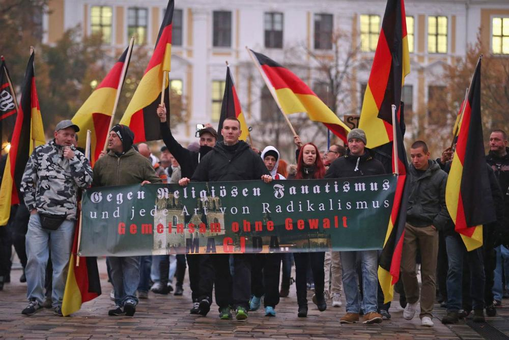Anti-Islam Demonstration in Magdeburg, Germany