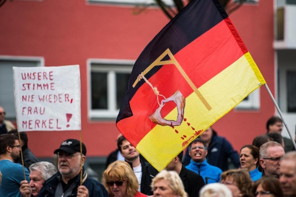 Anti-Merkel Demonstration