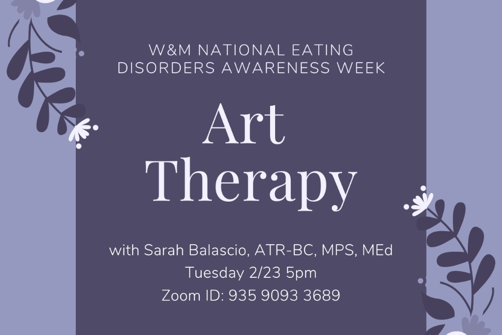 W&M NEDA Week Art Therapy graphic