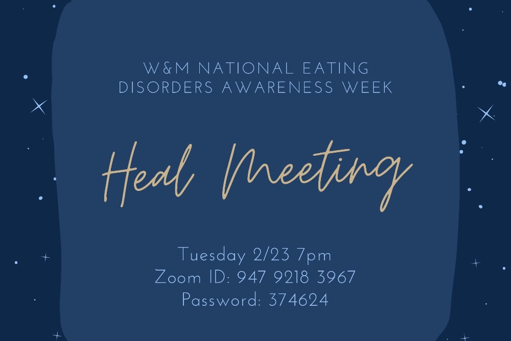 NEDA Week Heal Meeting graphic
