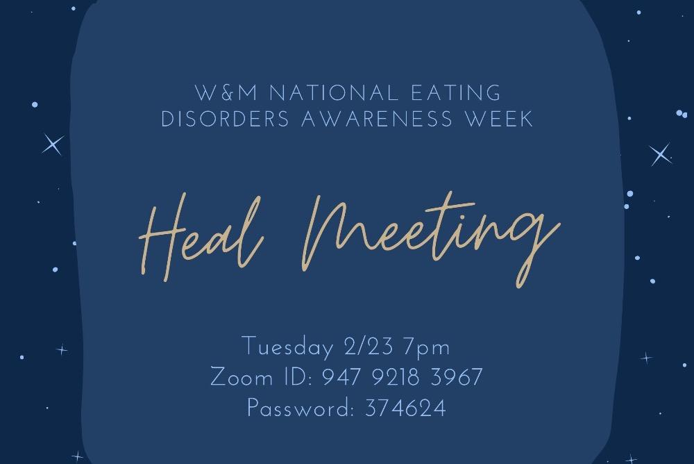 NEDA Week Heal Meeting graphic