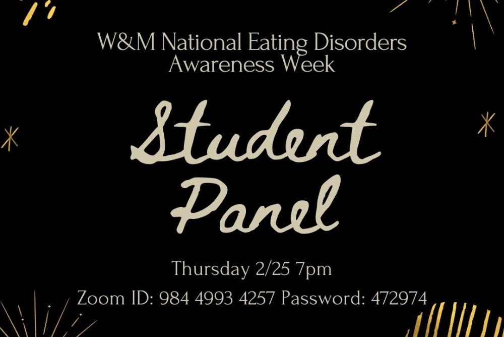 NEDA Week Student Panel graphic