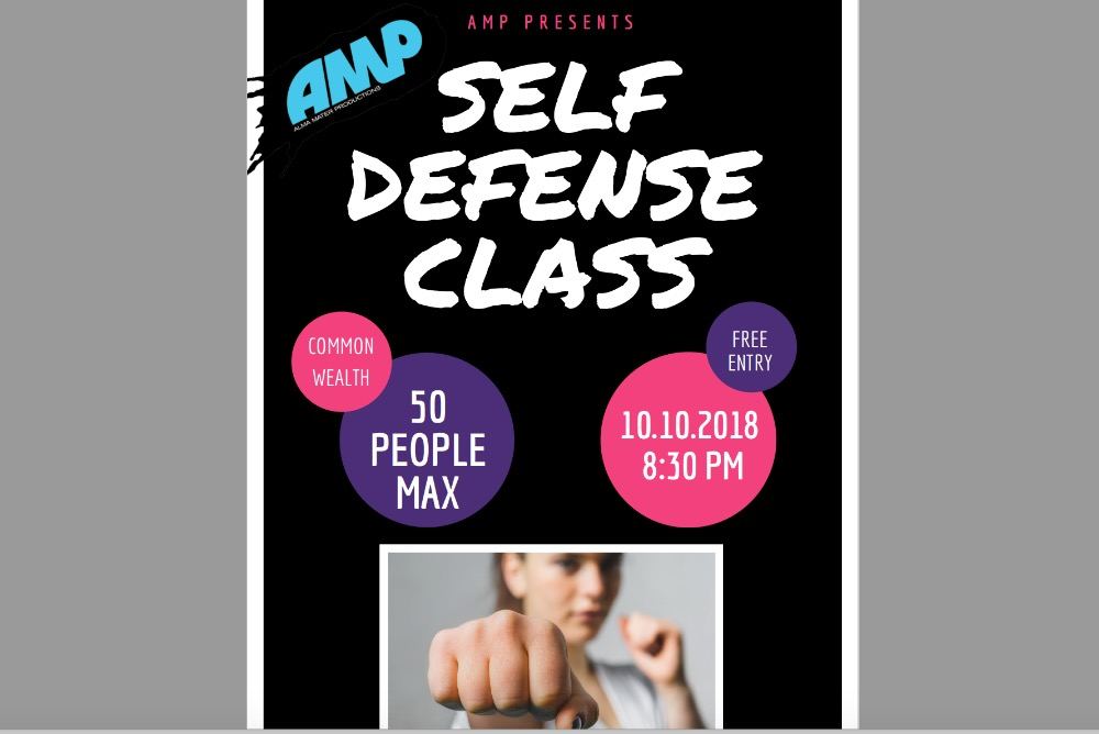 Self Defense Class Flyer