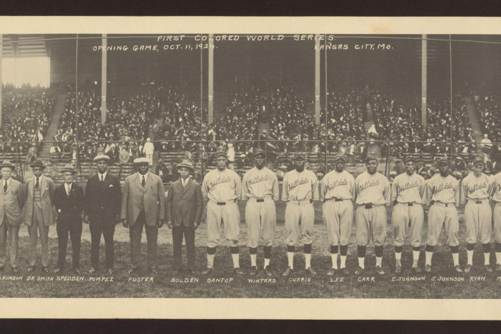 First colored world series opening game Oct. 11, 1924, Kansas City, Mo. Library of Congress image