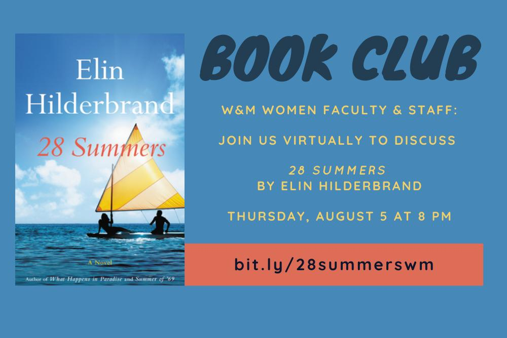 Book Club Flyer for 28 Summers