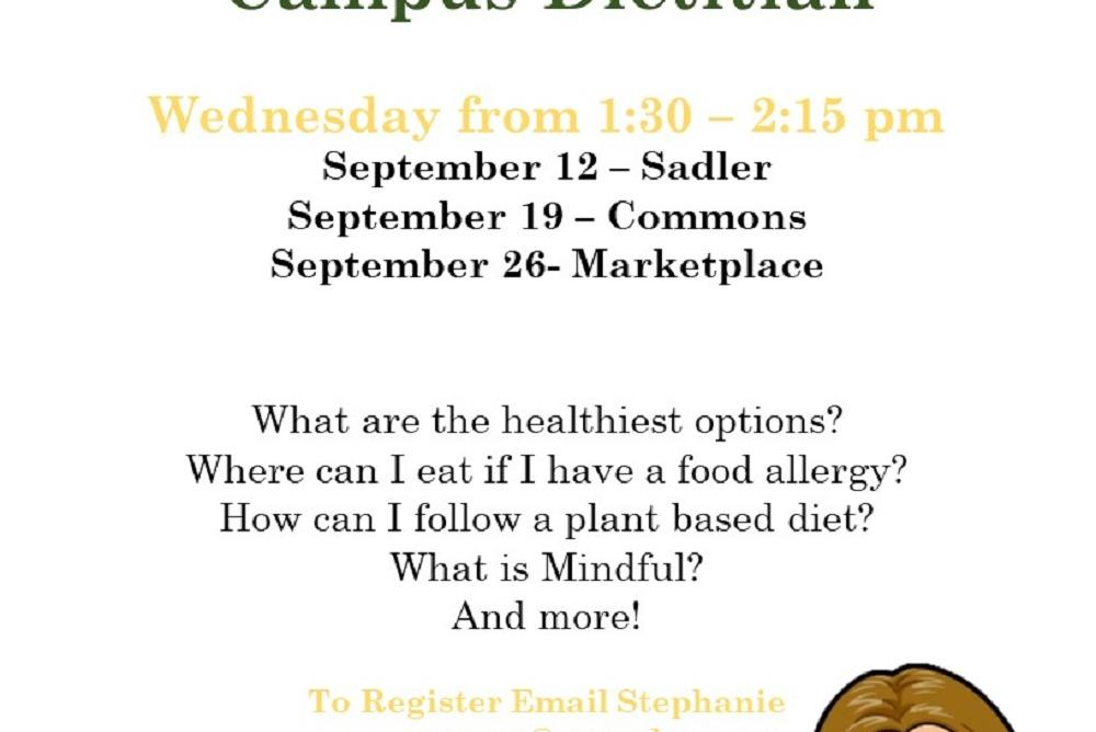 Dining Hall Tour with the Dietitian