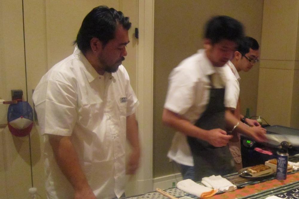 Chef Katsuya Fukushima and his team