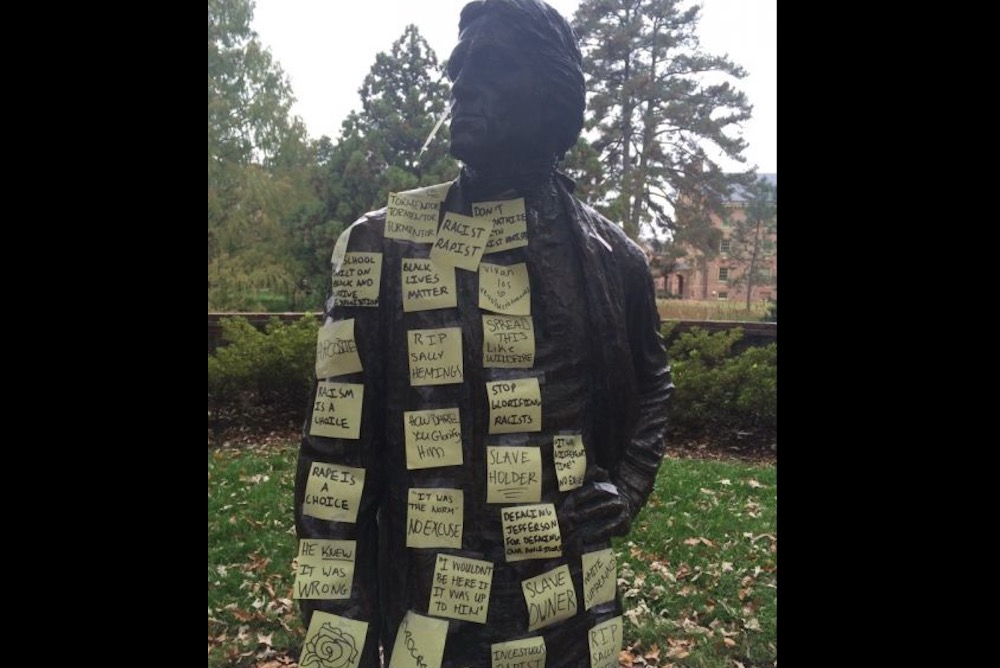 Anti-Racist Student Intervention at W&M's Jefferson Statue