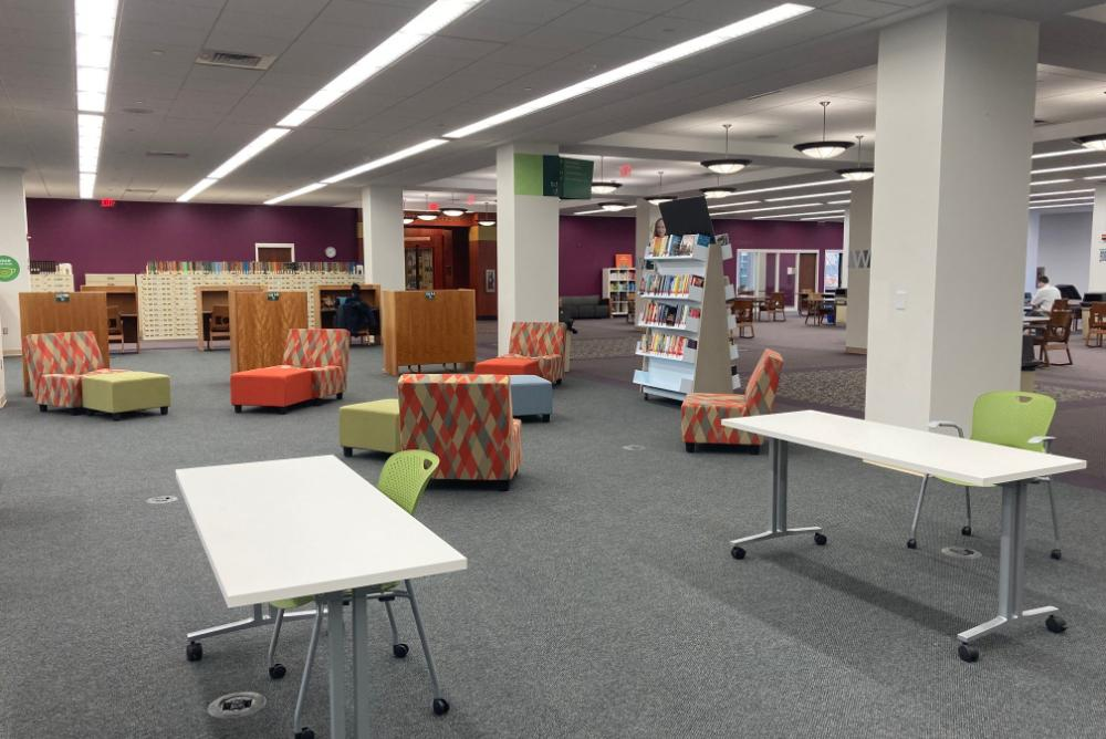 Swem library first floor space