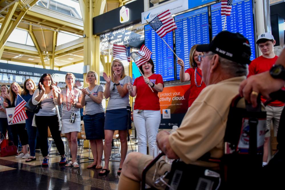 military, veteran, honor flight, DCA