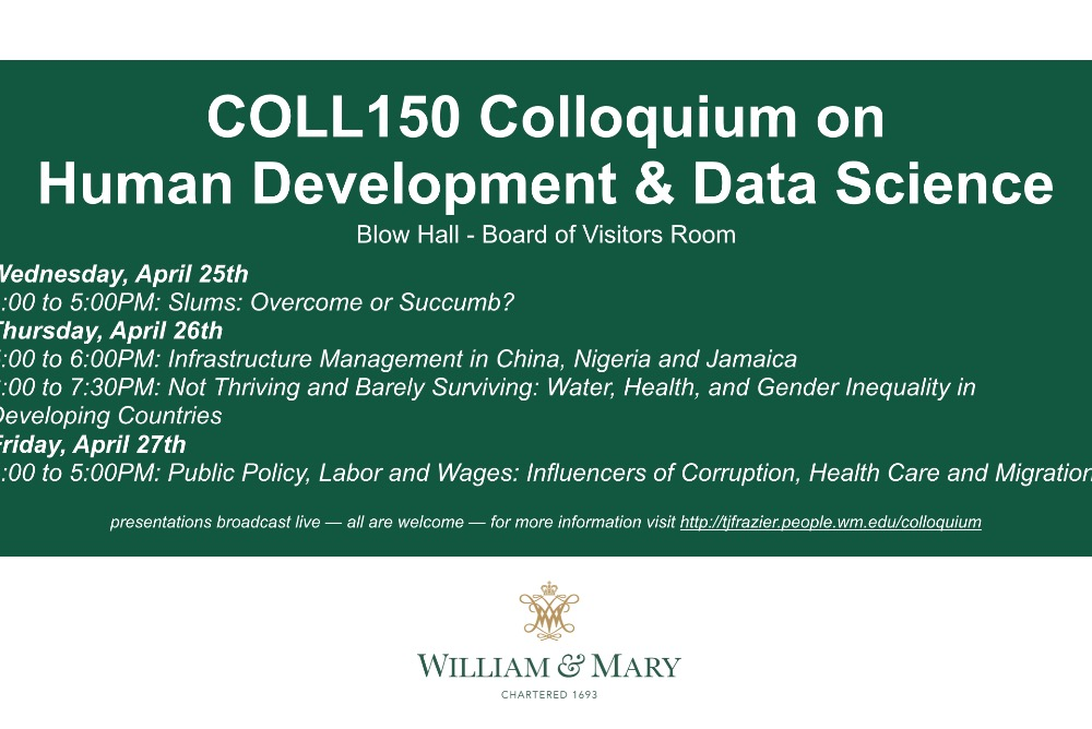 COLL150 Colloquium on Human Development & Data Science